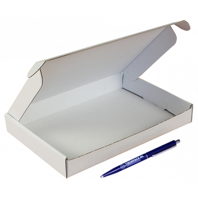 Brievenbusdoos A5 - 22x15,5x3 cm wit *