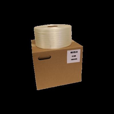 Strapband rayon - 13mm / 1100m wit